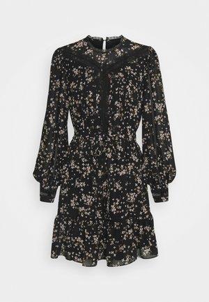 LACE SPLICED SKATER - Day dress - black jasmine