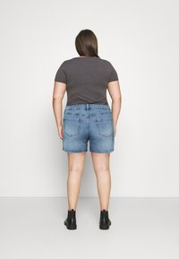 Cotton On Curve - MOM HIGH WAIST - Jeansshorts - jetty blue - 2