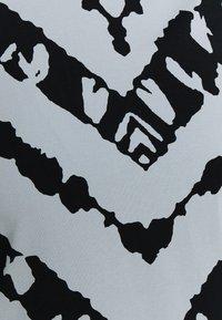 Proenza Schouler White Label - SHEER STRETCH TNECK SLIT - Long sleeved top - steel blue chevron - 6