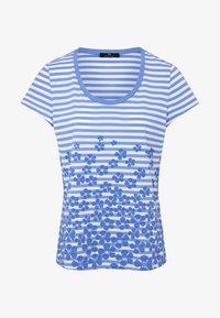 PETER HAHN - Print T-shirt - light blue - 4