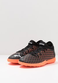 Puma - FUTURE 6.4 TT - Astro turf trainers - black/white/orange - 2