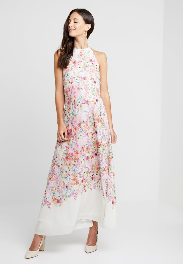 HI NECK MAXI TRAPEZE DRESS - Maxikjoler - cream border