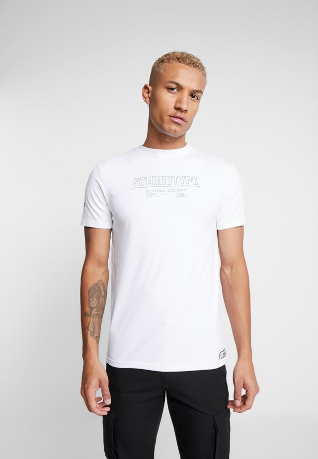 GLOW TEE - T-shirts med print - white