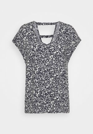 PRINTED V NECK  - Blouse - blue