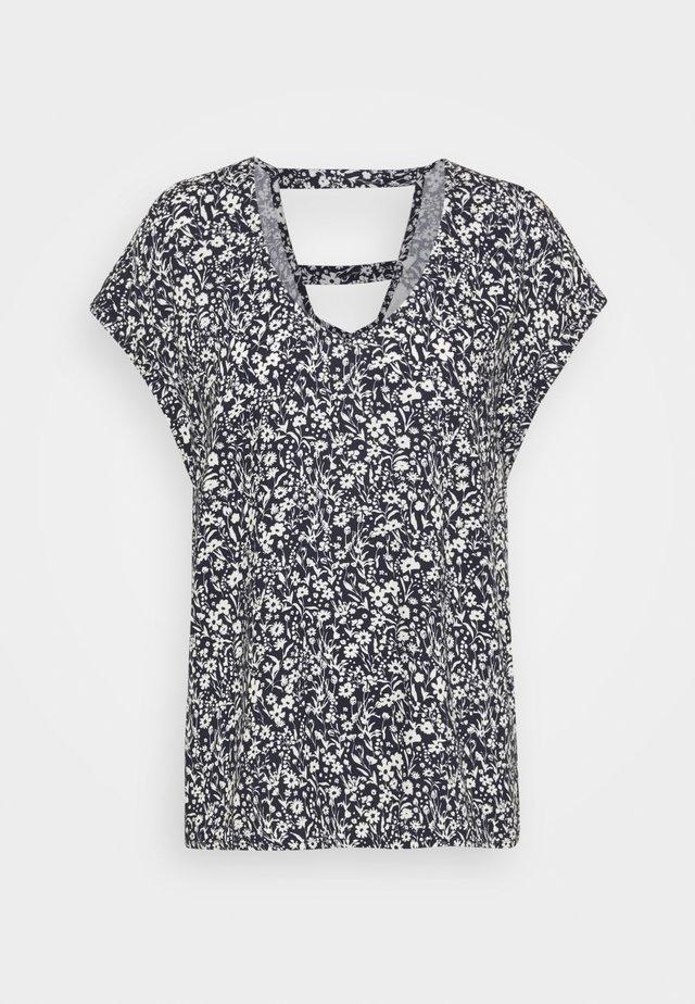 V NECK  - T-shirt print - blue