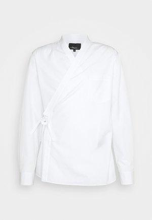 KIMONO STYLE TRAPUNTO STITCH - Long sleeved top - optic white