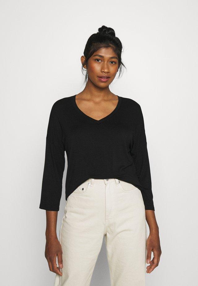 VIAMELLIA V NECK - Maglietta a manica lunga - black