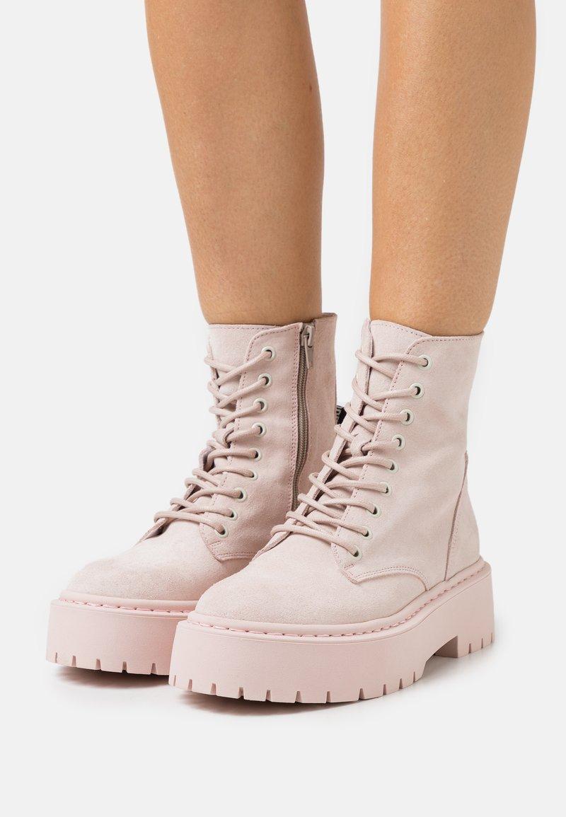 Steve Madden - SKYLAR - Platform ankle boots - blush