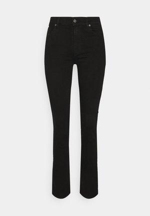 THE STRAIGHT RINSED BLACK - Straight leg jeans - black