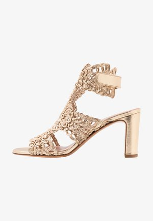 High heeled sandals - nude/rame