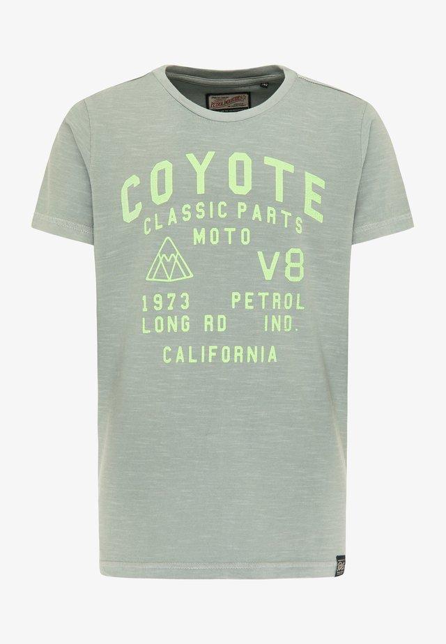 Camiseta estampada - hedge green