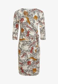 Oui - Day dress - offwhite red - 6