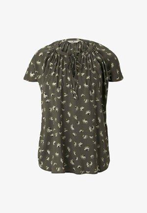 Blouse - khaki small floral design