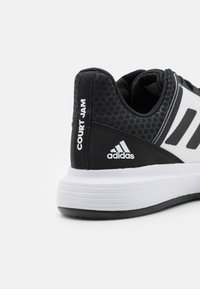 adidas Performance - COURTJAM BOUNCE CLAY - Clay court tennis shoes - core black/footwear white/grey three - 5