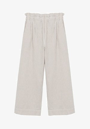JUPE-CULOTTE RAYURES - Trousers - beige