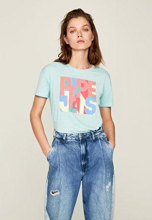 BROOKE - Camiseta estampada - pale blue