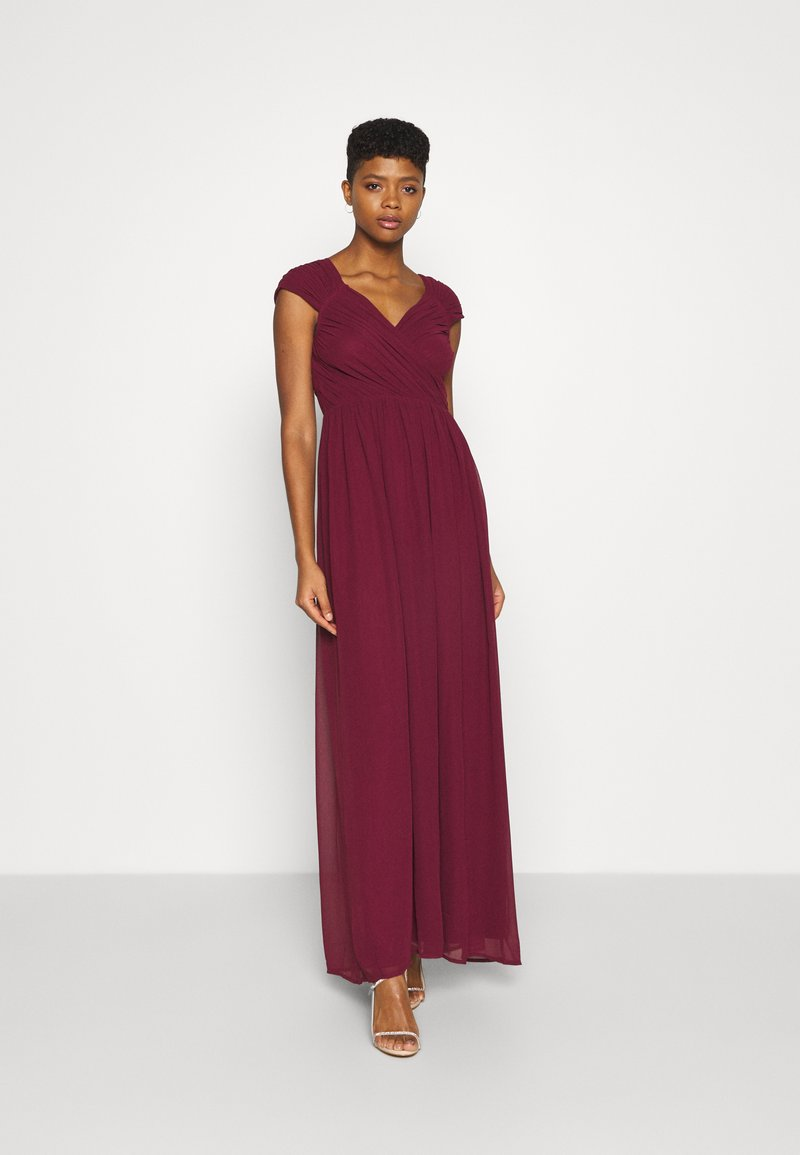 Nly by Nelly - CAP SLEEVE MAXI GOWN - Occasion wear - burgundy