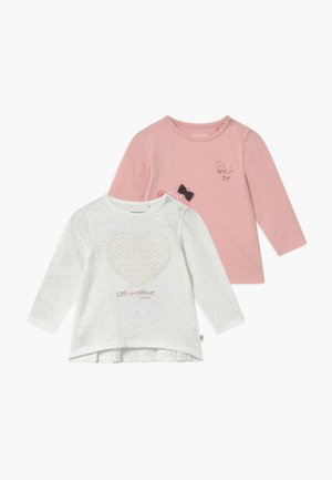 2 PACK - T-shirt à manches longues - off-white/light pink