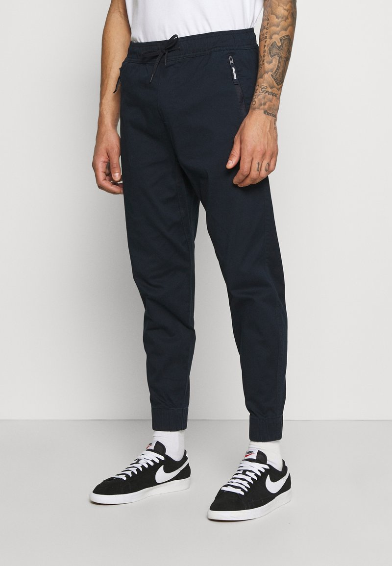 Hollister Co. - TAPER - Trousers - navy