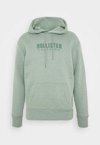 Hollister Co. - TECH LOGO TONAL - Jersey con capucha - green - 4