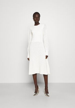BLOUSON SLEEVE MIDI DRESS - Jumper dress - white