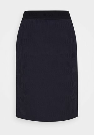 NENALIA - Pencil skirt - open blue