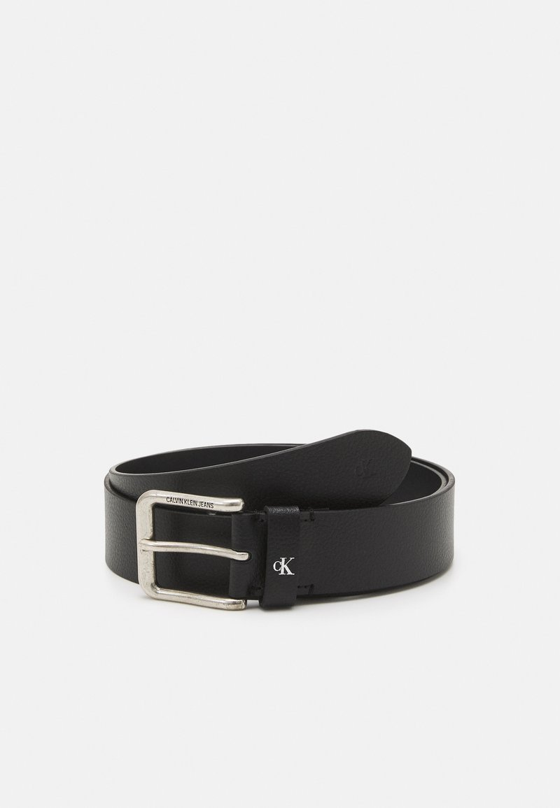 Calvin Klein Jeans - ROUNDED CLASSIC BELT - Belt - black