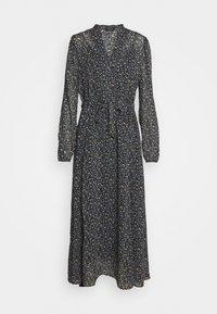 DRESS LONG STYLE BELTED WAIST DETAILED NECKLINE - Denní šaty - multi