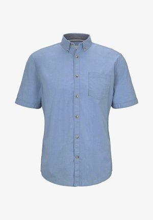 MIT BRUSTTASCHE - Camicia - light blue chambray