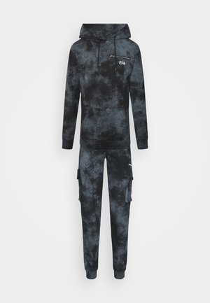 ACID WASH CARGO TRACKSUIT - Trainingspak - black