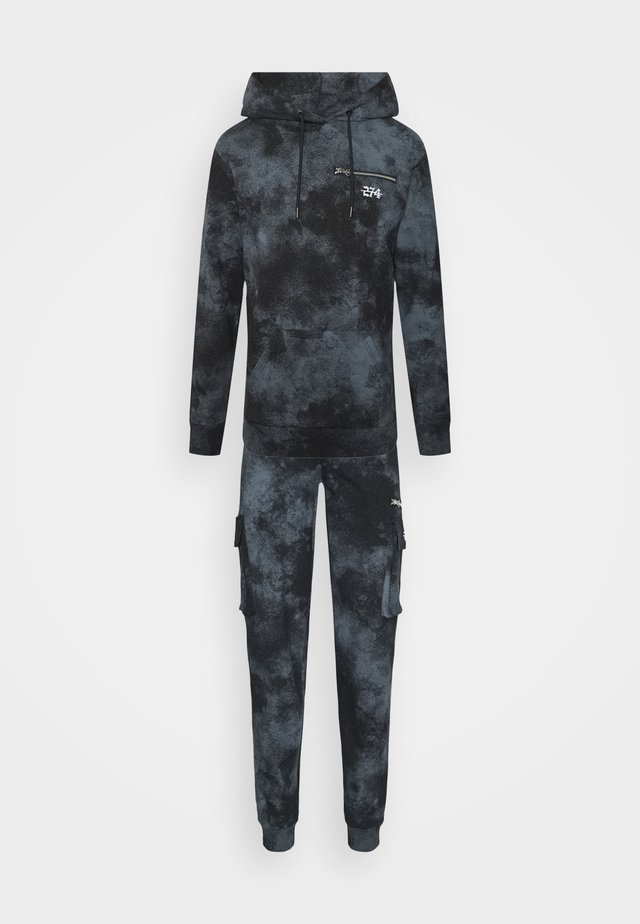 ACID WASH CARGO TRACKSUIT - Tuta - black