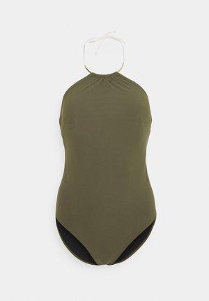 GLORY SWIMSUIT - Swimsuit - khaki/gold-coloured