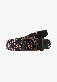 Barbour - FORD BELT - Pásek - red/navy/ecru - 2