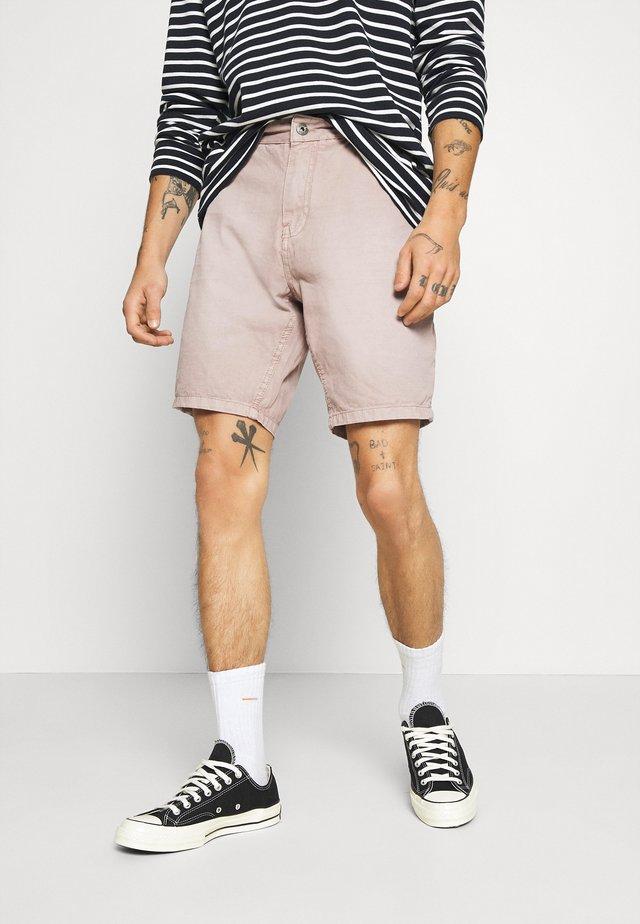 BLEACH - Jeans Shorts - dusky pink