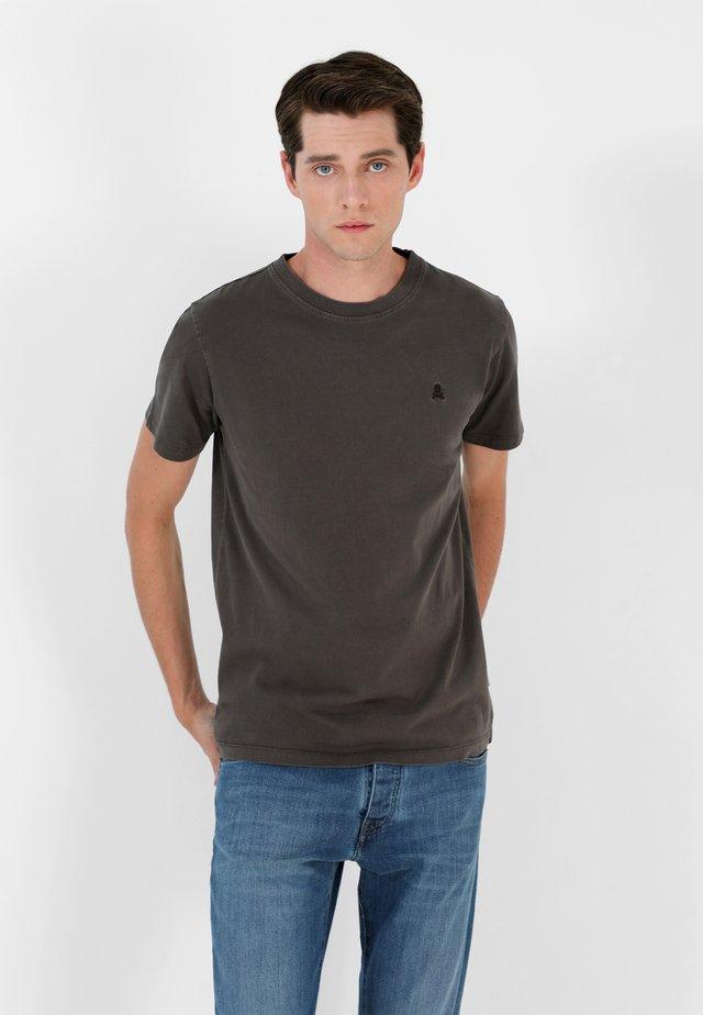SKULL TEE - Camiseta básica - dark grey