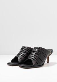 3.1 Phillip Lim - GEORGIA RUCHED MULE - Pantofle na podpatku - black - 4