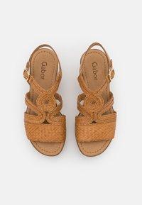 Gabor - Platform sandals - cognac - 5