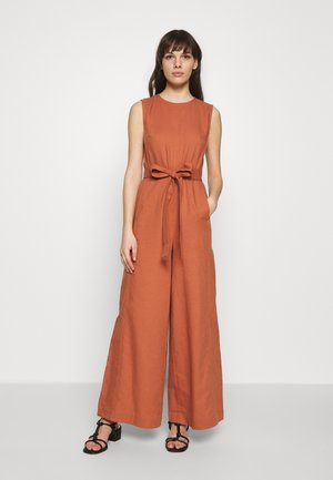 SUPER FLARED CROPPED - Overall / Jumpsuit - rose tan