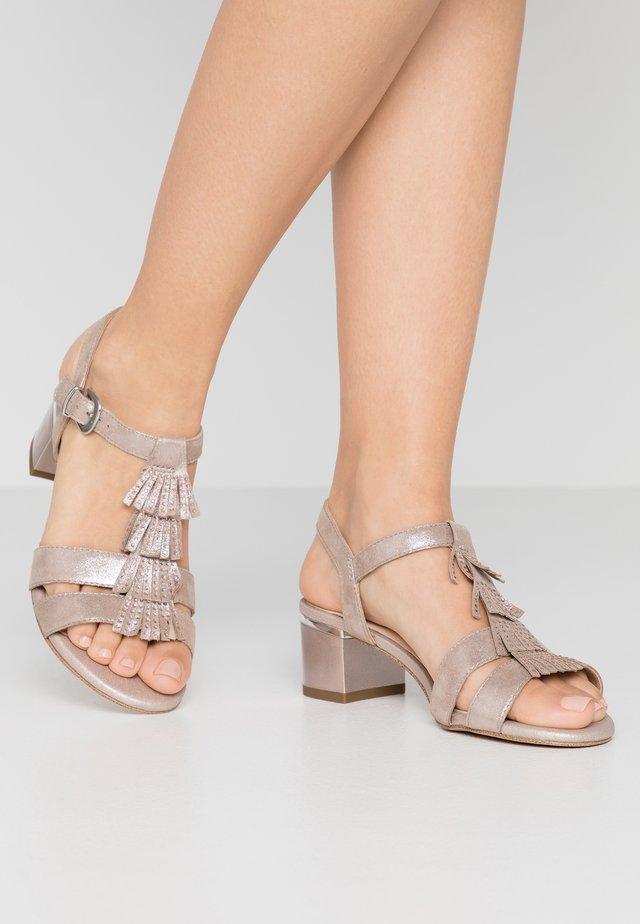 Sandals - taupe metallic