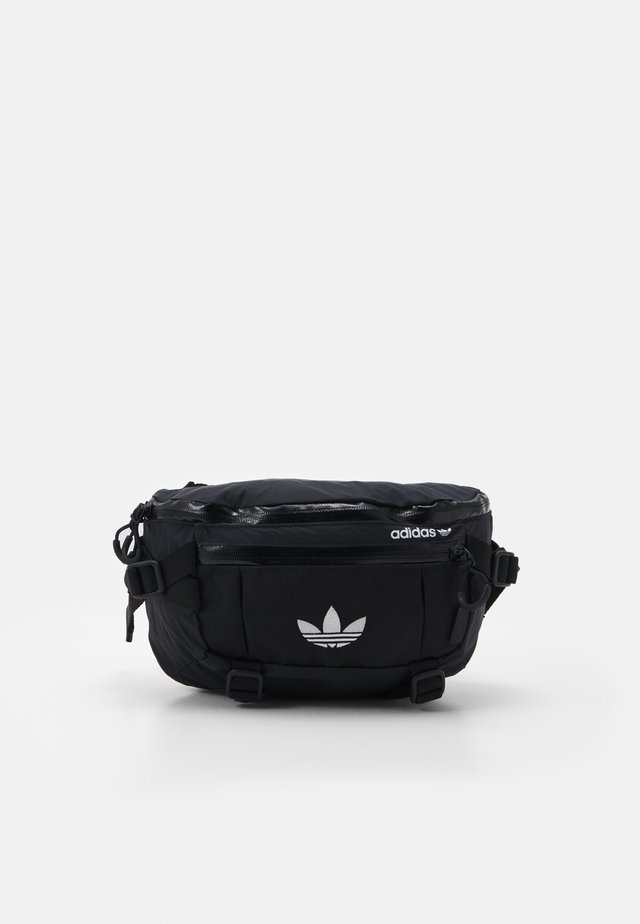 WAISTBAG UNISEX - Ledvinka - black/white