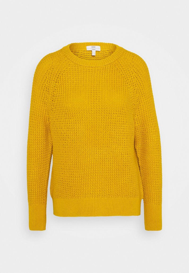 edc by Esprit - WAFFLE - Strikkegenser - brass yellow