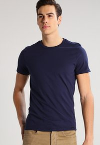 Lee - 2 PACK - T-shirt basic - blue/mottled grey - 2