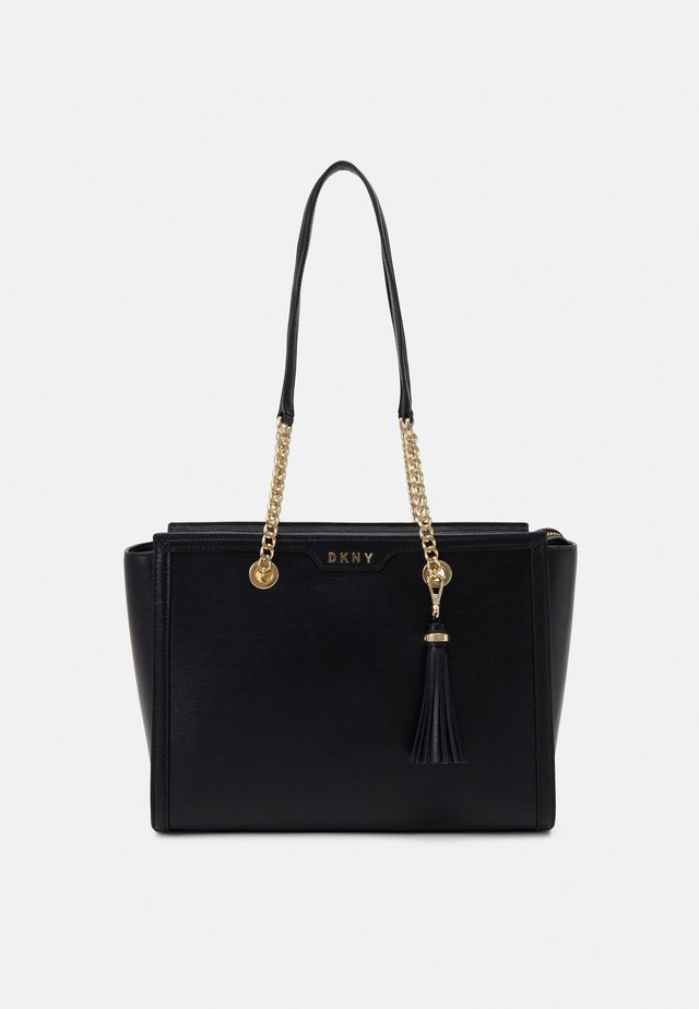 POLLY TOTE SUTTON - Handväska - black/gold-coloured