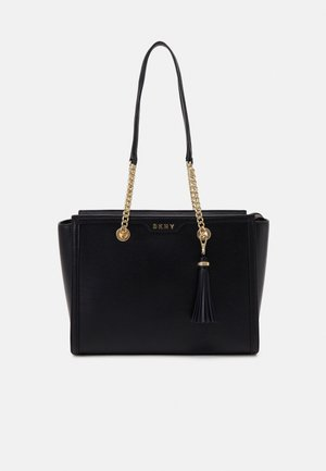 POLLY TOTE SUTTON - Håndtasker - black/gold-coloured
