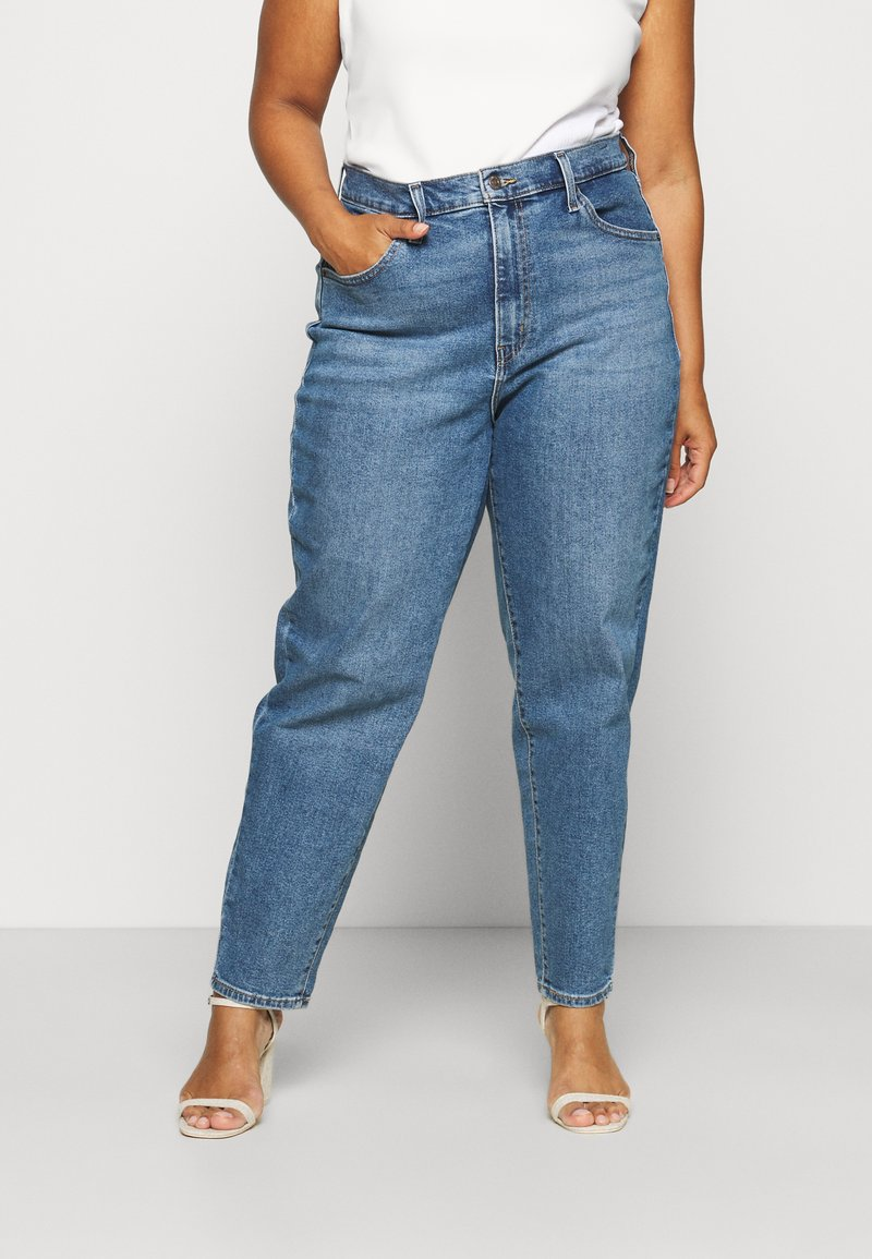 Levi's® Plus - HIGH WAISTED MOM - Jeans baggy - blue denim