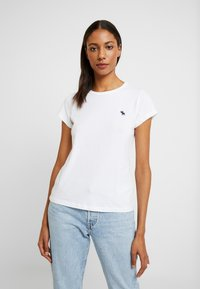 Abercrombie & Fitch - CREW 3 PACK - Basic T-shirt - white/navy/black - 6