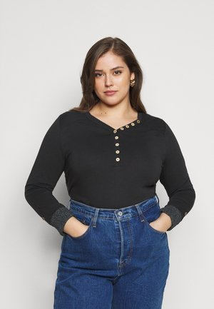 PINCH SOLID PLUS - Long sleeved top - black