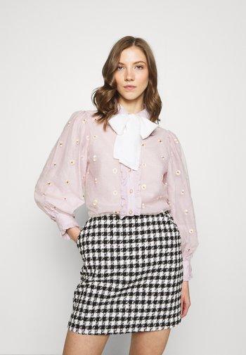 PICK A PETAL BOW BLOUSE - Button-down blouse - pink