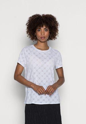 GAMINE LOGO BURNOUT - Basic T-shirt - pure white