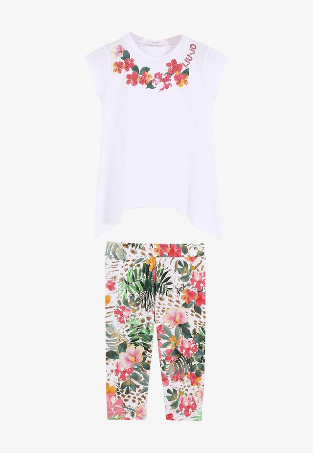 SET - Tygbyxor - white/floral